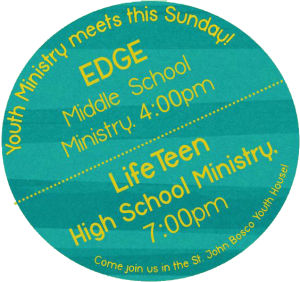 epiphany catholic church youth ministry info badge middle school high school