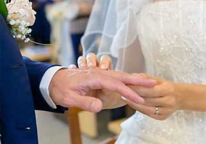 matrimony exchange of wedding rings